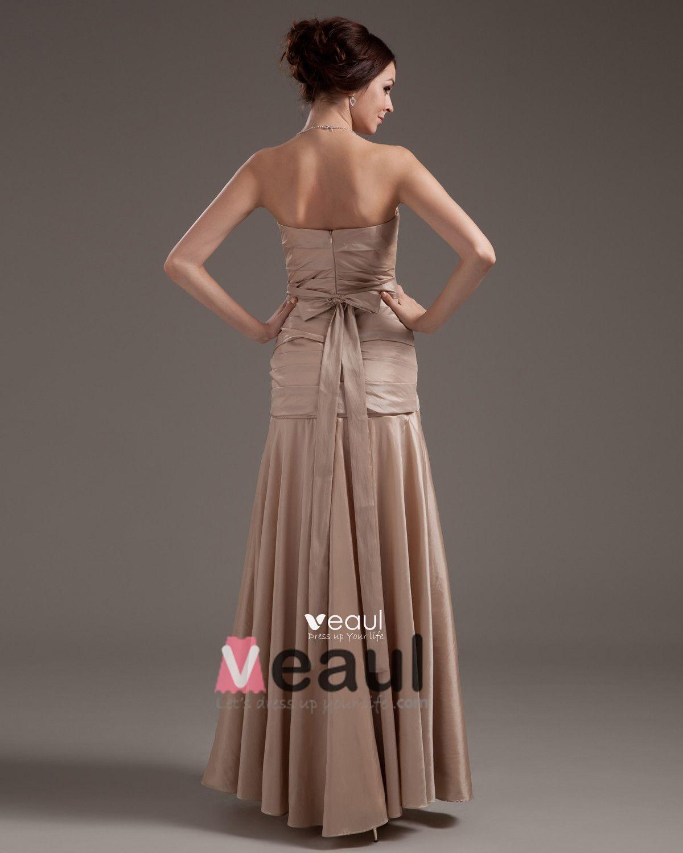 Taffeta Ruffles Floor Length Mothers of Bride Special Guests Dresses