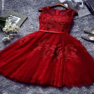 red cocktail dress