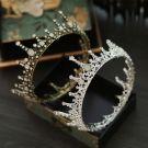 Classic 2017 Bronze Silver Crystal Rhinestone Metal Tiara Bridal Jewelry