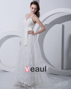 Applique Sicke Halfter Reich Brautkleider Hochzeitskleid