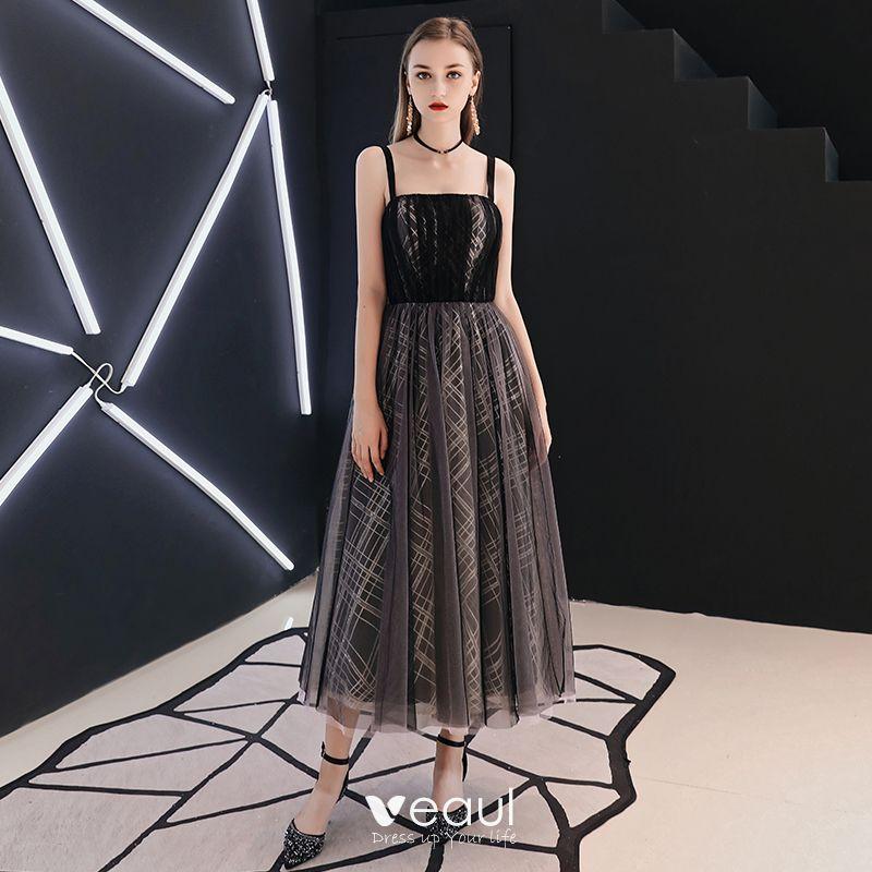 Chic / Beautiful Black Homecoming Graduation Dresses 2019 ...