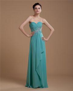 Amoureux Elegant En Mousseline A Volants Perles Etage Longueur Des Robes De Bal
