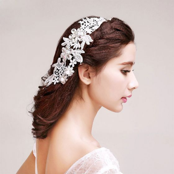Rhinestone Perle Kronblade Brude Headpieces / Hoved Blomst / Bryllup Hårpynt / Bryllup Smykker