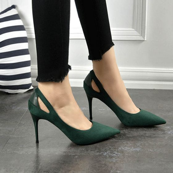 Chic / Beautiful Suede Pumps 2017 PU High Heels Pointed Toe Pumps