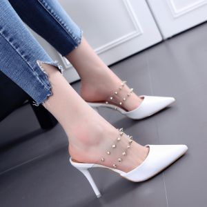 Classic 2017 Outdoor / Garden PU Summer Rivet High Heels Stiletto Heels 8 cm 8 cm / 3 inch Pumps