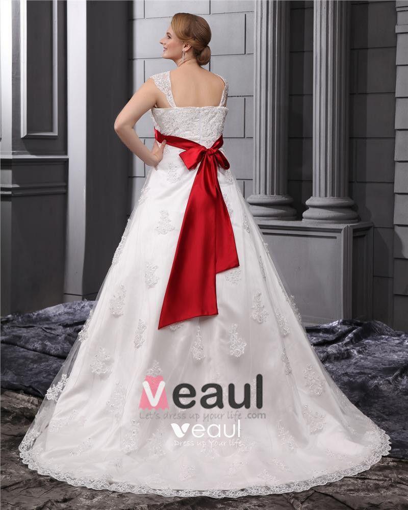 Lace Beads Applique Square Neck Floor Length Plus Size Bridal Gown Wedding Dress