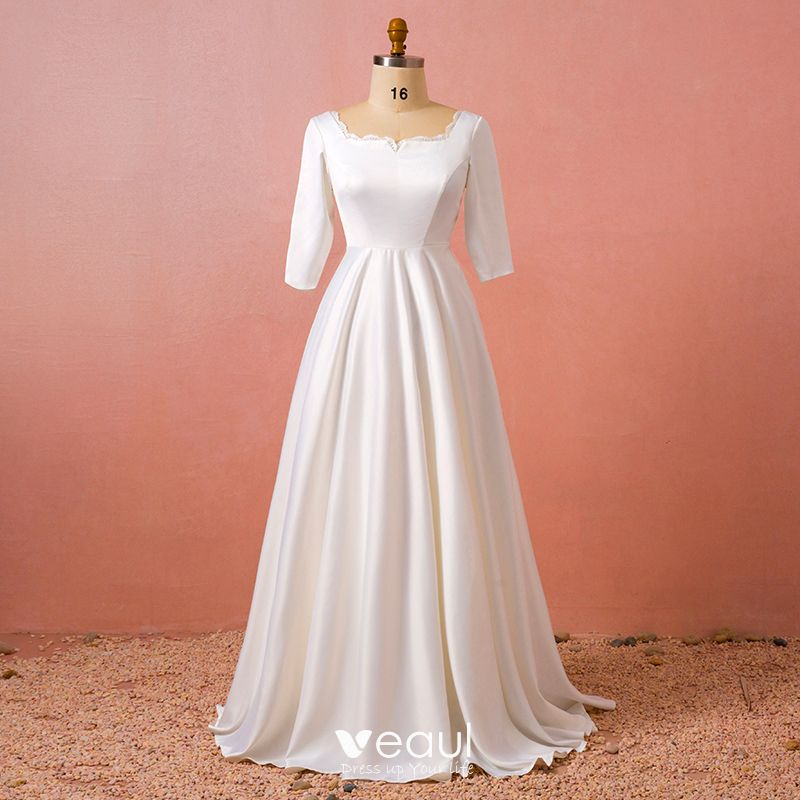 robe blanche mariée manche longue