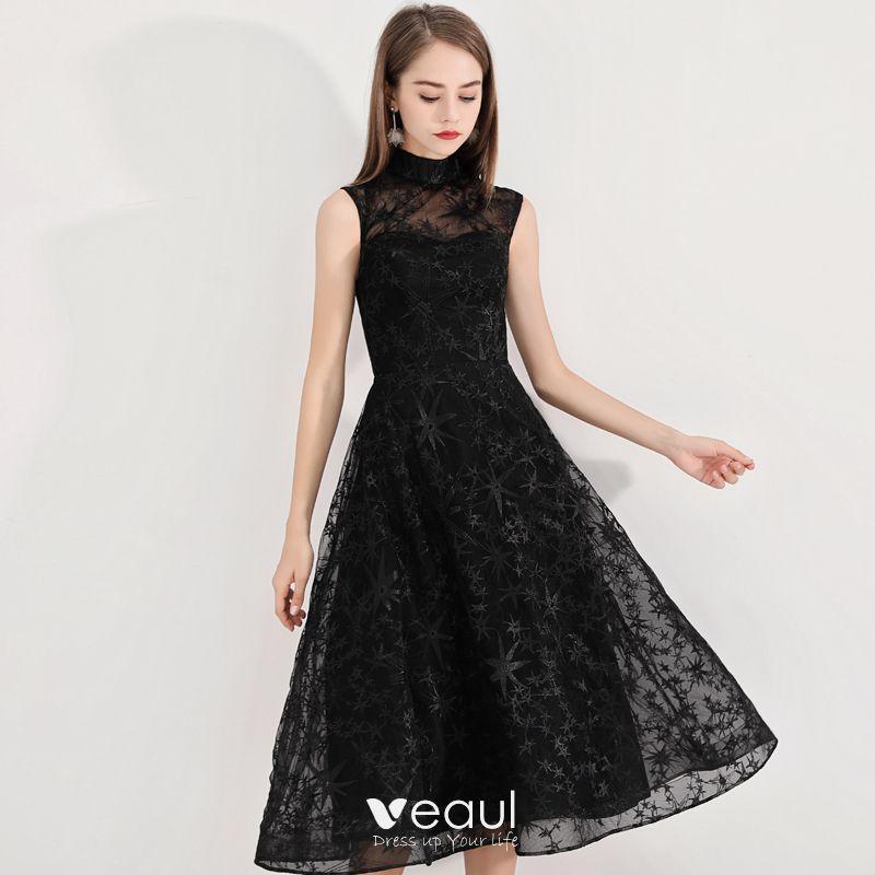 Schlicht Heimkehr Kurzes Schwarzes Kleid 2020 A Linie