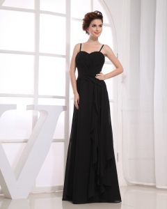 Sweetheart Neckline Floor Length Sleeveless Pleat Chiffon Empire Bridesmaid Dress