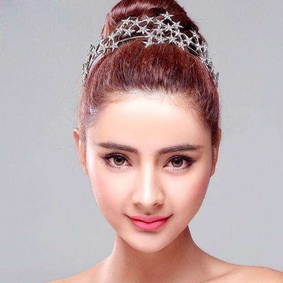 Star Shape Rhinestone Bridal Headdress / Fashion Head Flower / Wedding Hair Accessories / Wedding Jewelry