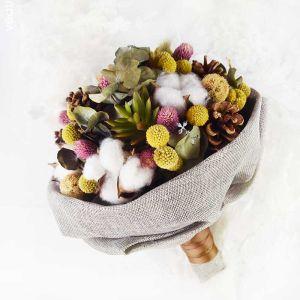 Klassisk Eleganta Multi-Färger Konstgjorda Blommor Handgjort Brudbukett 2019