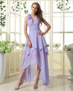 Satin Chiffon Halter Ruffle Floor Length Little Party Dresses