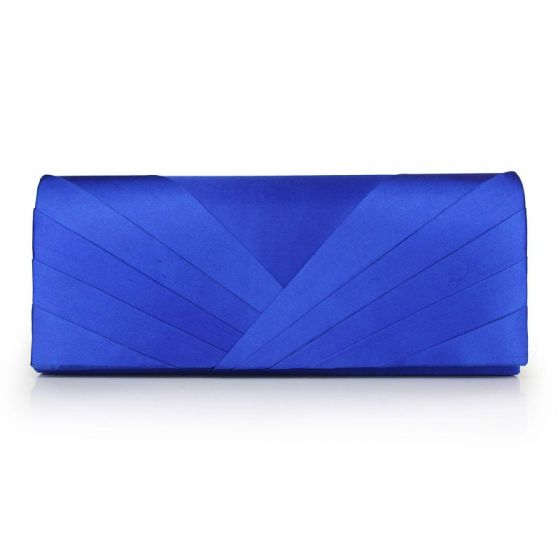 Modest / Simple Royal Blue Clutch Bags Striped Strappy Velour Wedding Cocktail Party Evening Party Accessories 2019