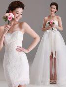 2015 Abnehmbare Schatz Beugt Mit Tüll Tailing Kurzen Hochzeitskleid