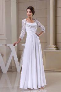2015 Charmante Reich Quadratischen Ausschnitt Bohrt Spitzenärmel rückenfrei Brautkleider Hochzeitskleid