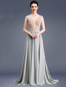 Robe De Soirée Sexy 2017 Perlée Perlée Robe De Ceremonie Sans Dos