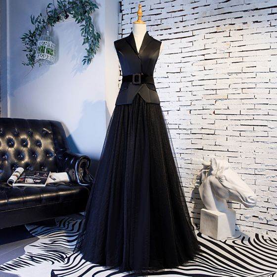 Vintage / Retro Black Prom Dresses 2019