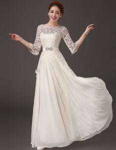 Glamour D'une Ligne D'accessoires En Cristal De Perles Parole Longueur Mousseline Robes De Soirée