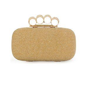 Kleurrijke Garen Ting Vier Vingers In Elkaar Grijpende Kleine Tas Fashion Diner Clutch Tas Bag Ring Pakket
