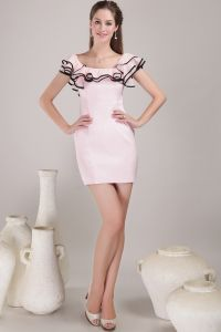 2015 Beautiful Short Pink Cocktail Dress Party Dress