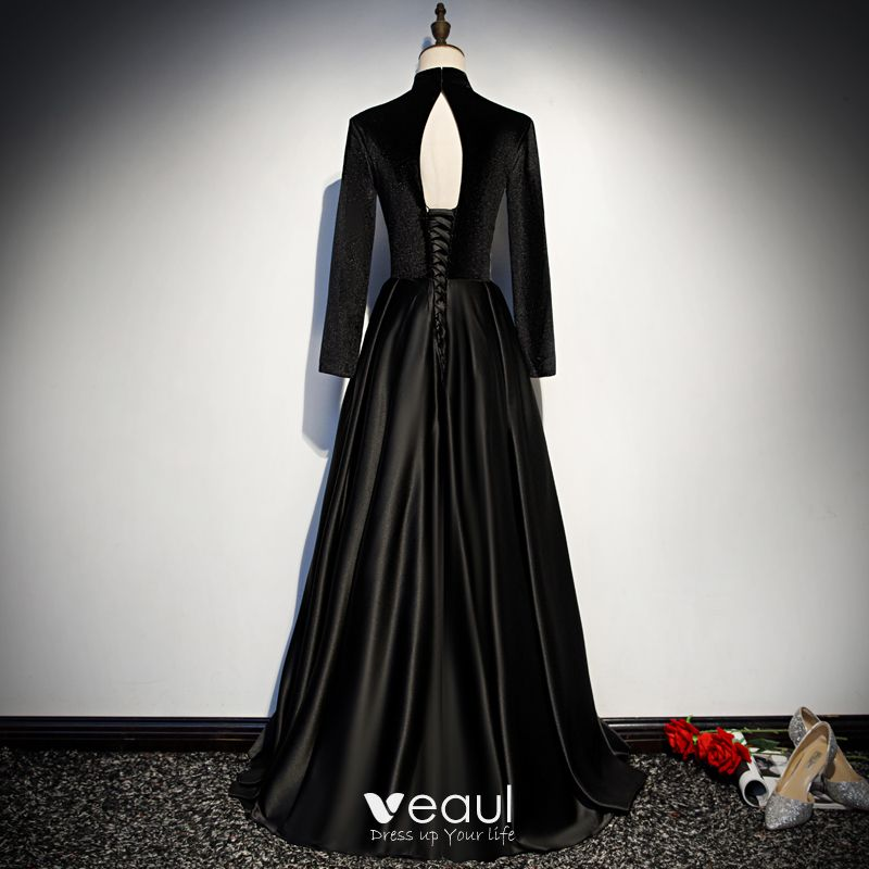 Vintage / Retro Black Evening Dresses