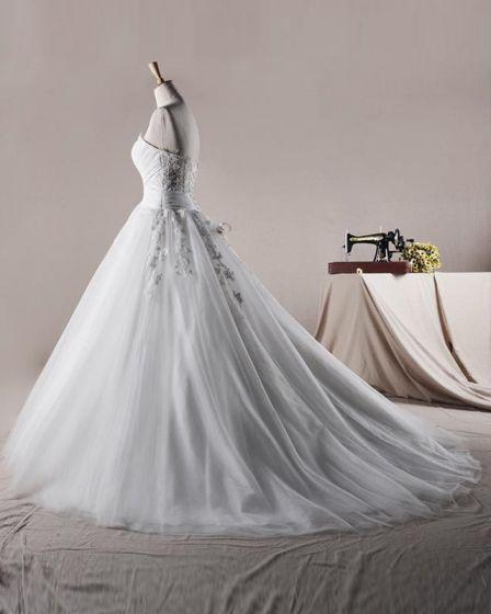 Elegant Volants De Tulle Cherie Applique Une Robe De Mariée En Ligne