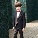 Modern / Fashion Black Long Sleeve Boys Wedding Suits 2017