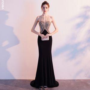 encantador negro vestidos fo les de