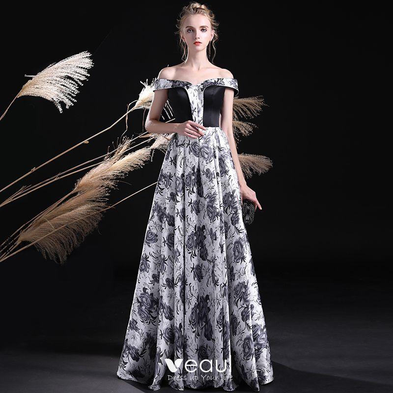 Unique Black White Prom Dresses 2017 A
