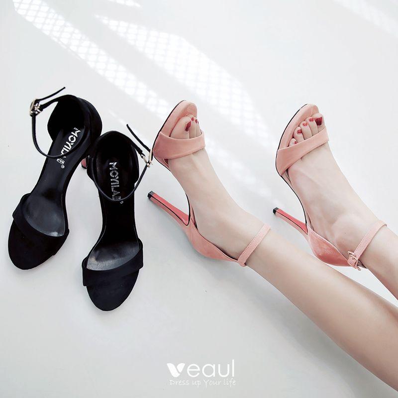 Chic / Beautiful Hall Womens Sandals 2017 PU Buckle Platform High Heels Open / Peep Toe Pumps