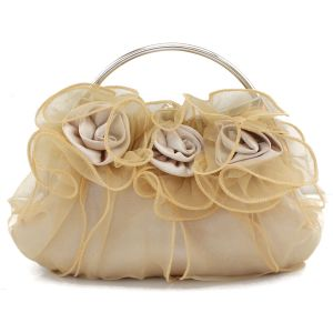 8 Colors Flowers Lace Bridal Bridesmaid Evening Bag Ladies Clutch Bag