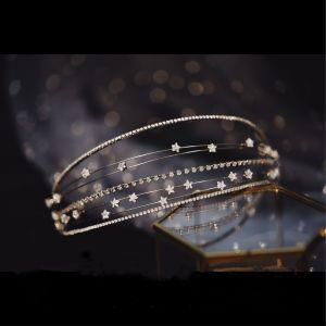 Elegante Zilveren Haaraccessoires Bruids Haaraccessoires 2020 Metaal Zirkonium Huwelijk Accessoires