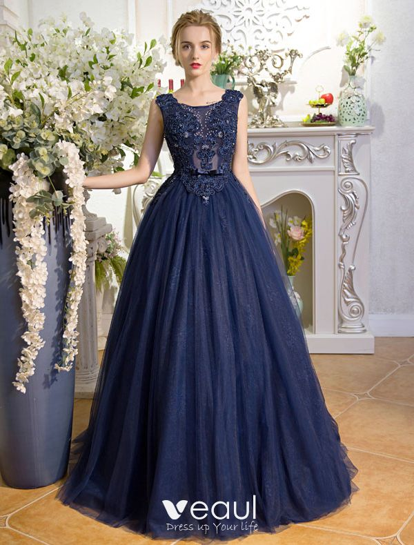 a48c68a99e Stunning Prom Dresses 2017 Scoop Neck Applique Lace Beading ...