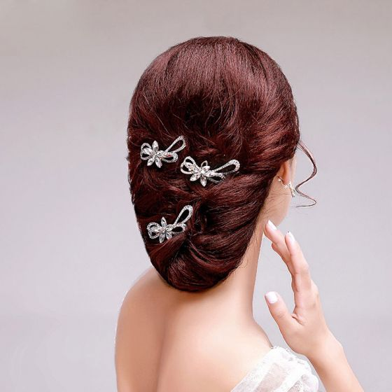 White Classical Luxury Rhinestone Bridal Headpieces Accessories