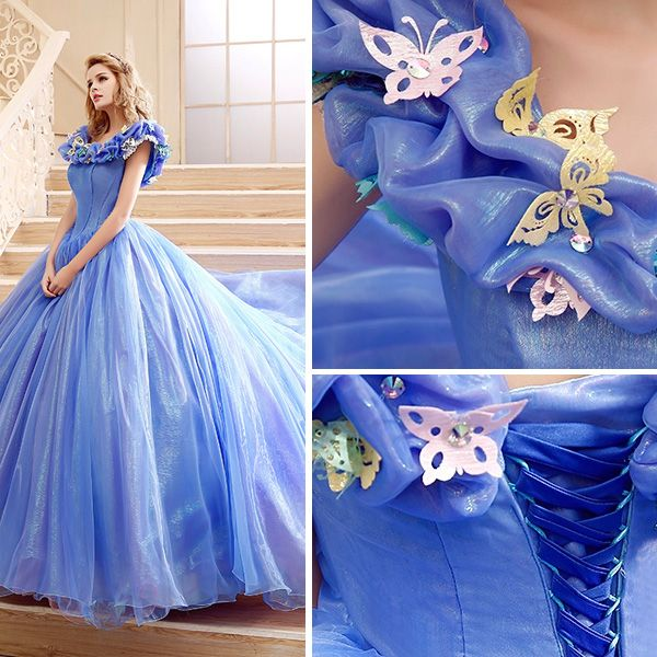 2015 Film Kleidkostüm Ballkleider Cinderella Erwachsenen