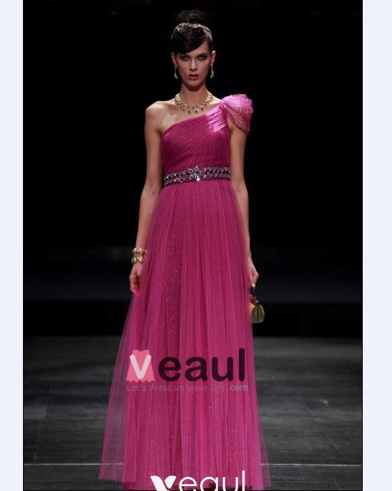 Beading Sloping A-line Floor Length Women's Cocktail Dresses