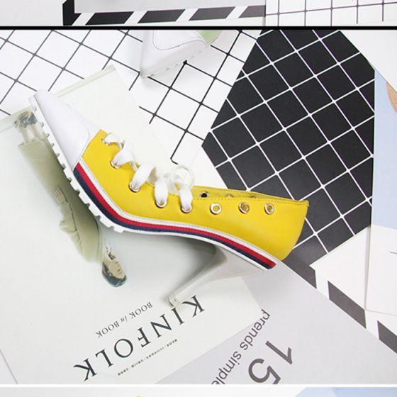 Multi-Colors Outdoor / Garden Leather Strappy High Heels Stiletto Heels Pumps Modern / Fashion 2017 Pumps