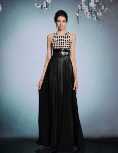 2015 Black Sequins Backless Long Evening Dress Party Dress