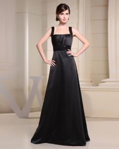 Spaghetti Straps Zipper Paillette Floor length Chiffon Silk Charmeuse Sleeveless Woman Bridesmaid Dress