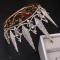 Chic / Belle Doré Bijoux Mariage 2019 Métal Faux Diamant Tiare Gland Boucles D'Oreilles Mariage Accessorize
