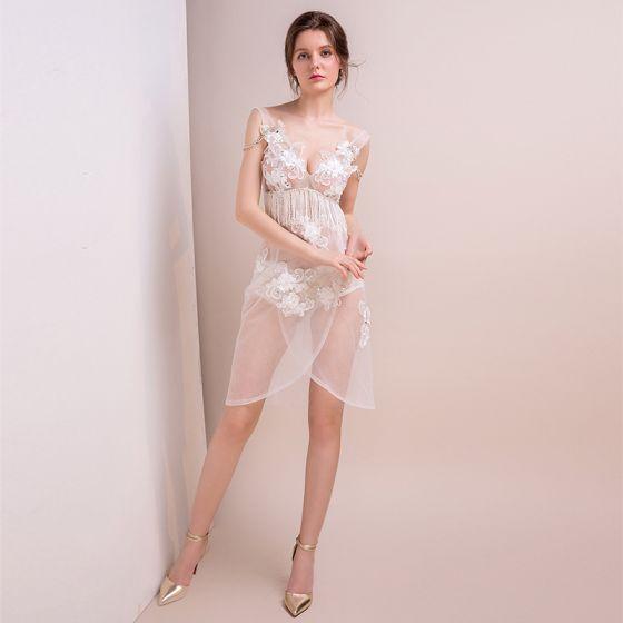 Vestidos fiesta cortos transparentes