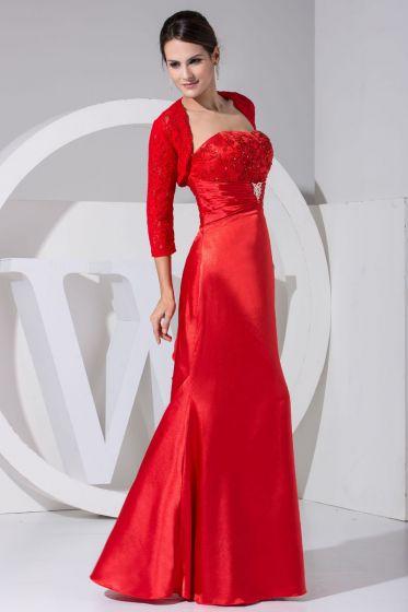 4fc84c9e3d Charmeuse Koronki Linke Długie Plisowana Pietro Sukienki Na Wesele Dla Mamy