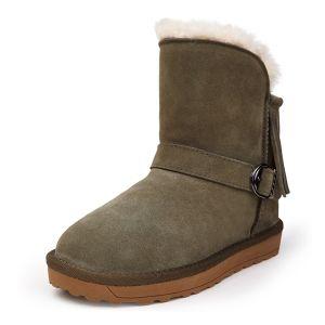 Vrouwen Nieuwe Laarzen Kwast Halverwege De Kuit Winter Sneeuw Laarzen