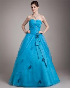Ball Gown Taffeta Tulle Beading Applique Sweetheart Floor Length Quinceanera Prom Dresses