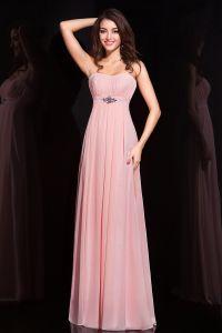 6407efa3a 2015 Imperio Elegante Faja Cristal Sin Tirantes Largo De Color Rosa Vestidos  De Noche Formal