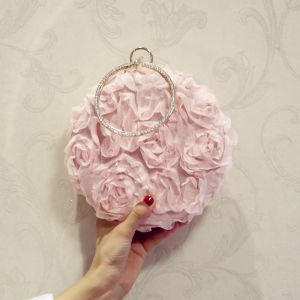 Chic / Beautiful Blushing Pink Flower Clutch Bags 2018