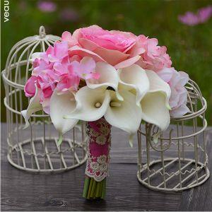 Dodatki Ślubne Bridal Bukiety Gospodarstwa Kwiat Sztuczny Jedwab Kwiat Calla Lily Bukiety Ślubne Weselne Kwiaty