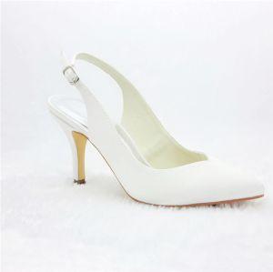 Schicke Brautschuhe Stiletto High Heel Pumps Slingpumps für die Dame
