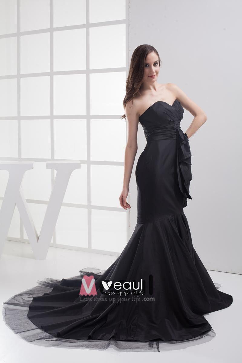 Fashion Taffeta Gauze Pleated Sweetheart Floor Length Celebrity Prom Dress