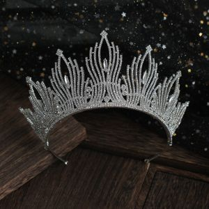 Chic / Beautiful Silver Rhinestone Tiara Wedding Accessories 2019 Bridal Hair Accessories